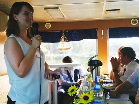 Transnational boat trip from Schwedt/Oder to Szczecin